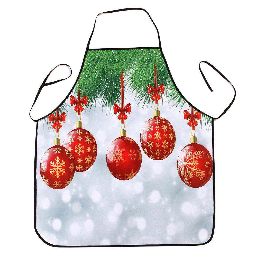 Gants de Noël Print Waterproof Apron - multicolore 80*70CM