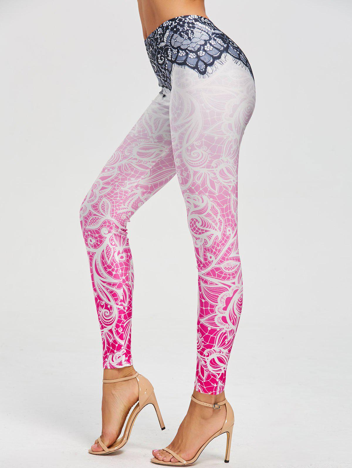 Bohemian Print Leggings - COLORMIX L