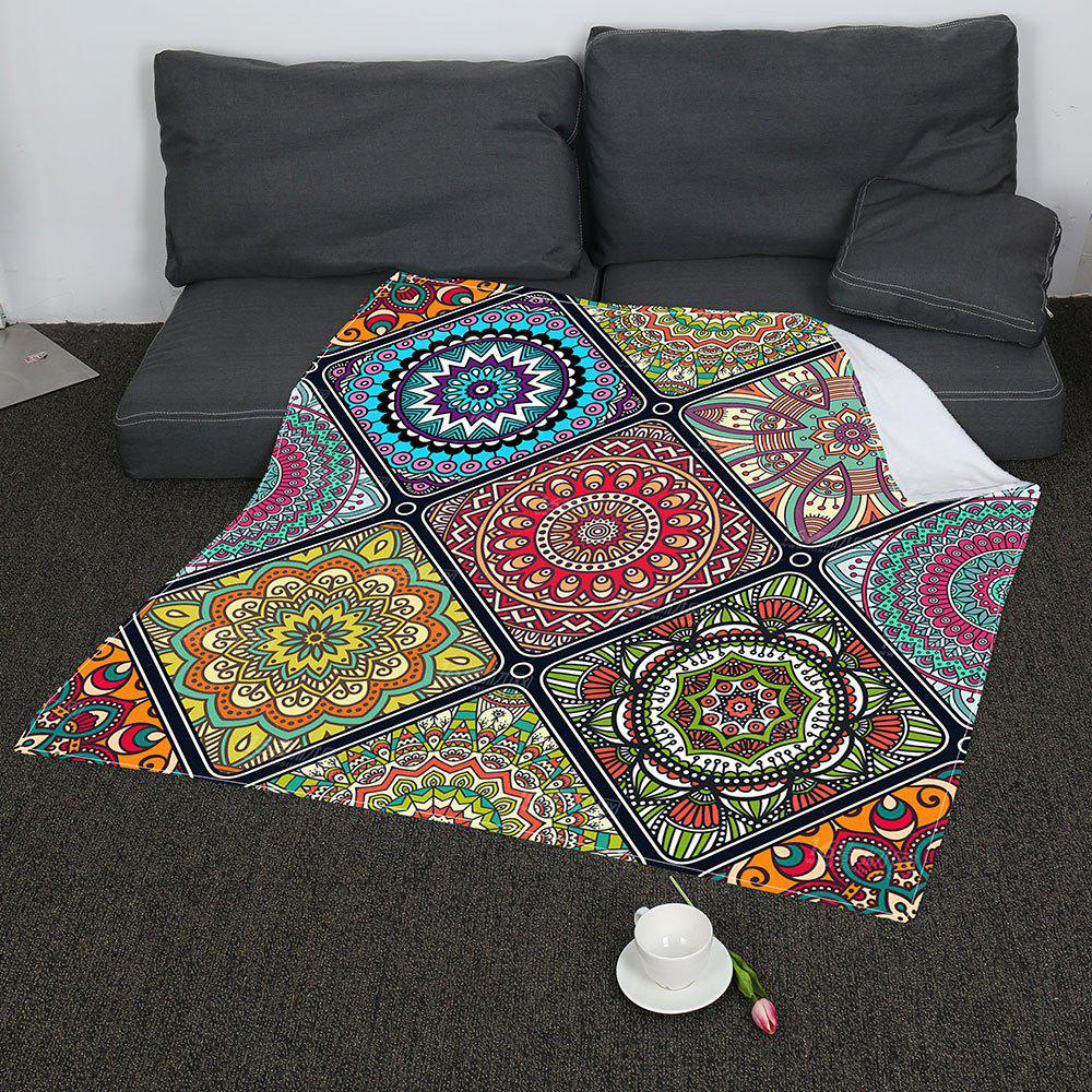 Coral Fleece Bohemia Geometry Pattern Blanket - COLORFUL W47INCH*L59INCH