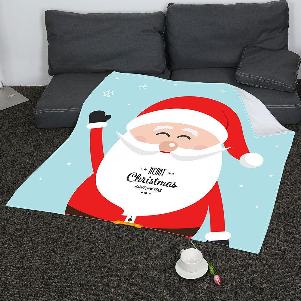 Coral Fleece Father Christmas Pattern Blanket - COLORFUL W47INCH*L59INCH