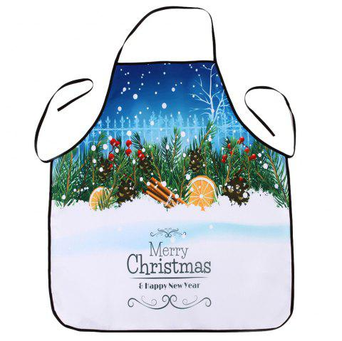 Christmas Snowscape Print Waterproof Kitchen Apron - multicolore 80*70CM