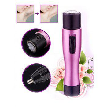 Lady Body Shaver and Nose Trimmer Device - PURPLE PURPLE