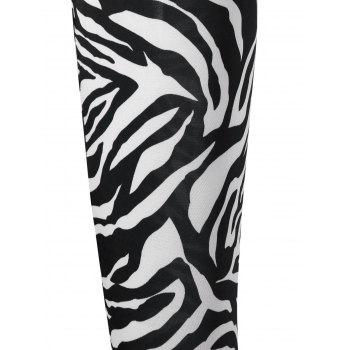 Zebra Striped High Waist Leggings - M M