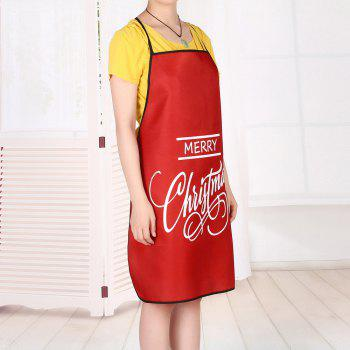 Merry Christmas Letters Print Waterproof Apron - RED RED