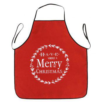 Merry Christmas Print Waterproof Apron - RED RED