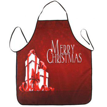 Christmas Gifts Print Waterproof Apron - RED 80*70CM