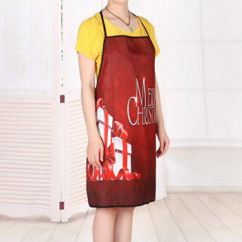 Christmas Gifts Print Waterproof Apron - RED RED