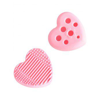 Heart Shape Silicone Cleaning Tool Brush Eggs - PINK PINK