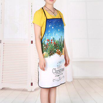 Christmas Snowscape Print Waterproof Kitchen Apron - COLORMIX 80*70CM