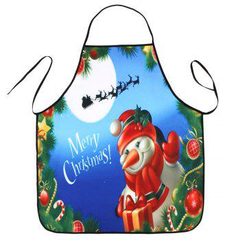 Christmas Snowman Printed Kitchen Waterproof Apron - COLORMIX 80*70CM