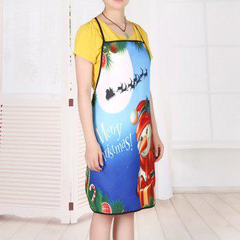 Christmas Snowman Printed Kitchen Waterproof Apron - 80*70CM 80*70CM