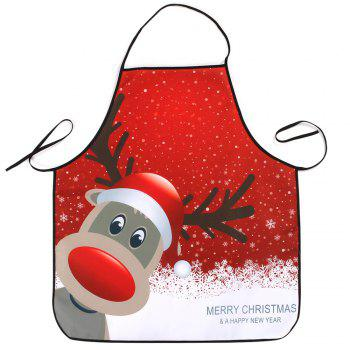 Christmas Deer Printed Waterproof Cooking Apron