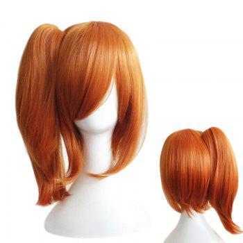 Side Bang Medium Straight Ponytail Love Live Kousaka Honoka Cosplay Synthetic Wig - PEARL KUMQUAT PEARL KUMQUAT