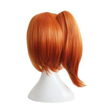Side Bang Medium Straight Ponytail Love Live Kousaka Honoka Cosplay Synthetic Wig -  PEARL KUMQUAT