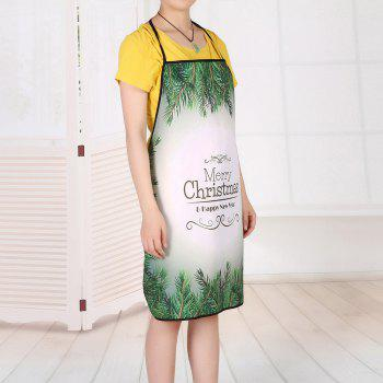 Christmas Pine Tree Print Waterproof Apron - 80*70CM 80*70CM