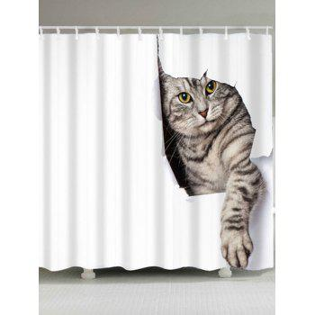 High Quality Cat Pattern Waterproof Shower Curtain