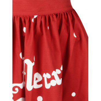 Christmas Polka Dot Sled Print Skirt - XL XL