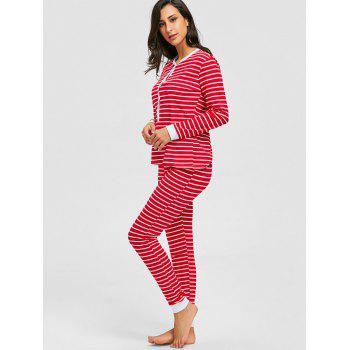Christmas Striped Long Sleeve PJ Set - XL XL