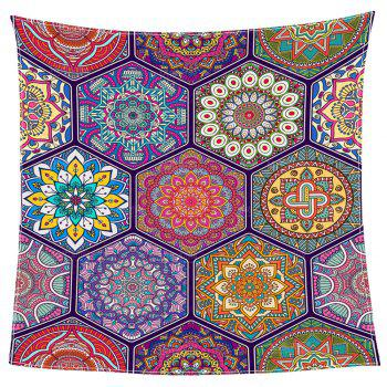 Bohemian Geometries Print Coral Fleece Blanket - COLORFUL W59 INCH * L79 INCH