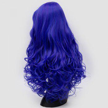 Long Inclined Bang Fluffy Curly Synthetic Party Wig -  ROYAL