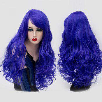 Long Inclined Bang Fluffy Curly Synthetic Party Wig - ROYAL ROYAL