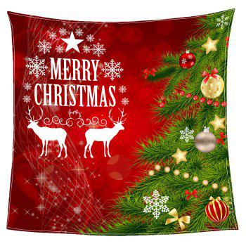 Coral Fleece Christmas Tree Balls Patterned Blanket - RED/GREEN W31 INCH*L59 INCH