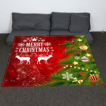 Coral Fleece Christmas Tree Balls Patterned Blanket - RED/GREEN RED/GREEN
