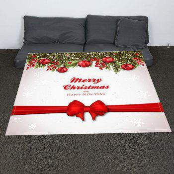 Christmas Balls Ribbon Patterned Coral Fleece Blanket - COLORFUL COLORFUL