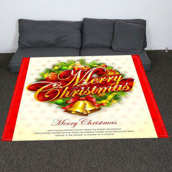 Merry Christmas Print Coral Fleece Blanket - COLORFUL W59 INCH * L79 INCH