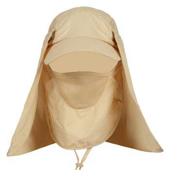 Outdoor Sport Detachable Quick Dry UV Protection Hat - KHAKI