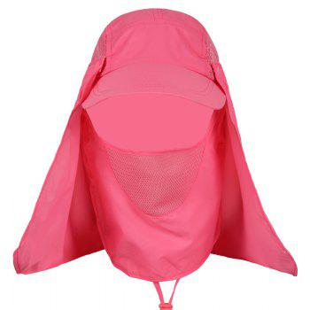 Outdoor Sport Detachable Quick Dry UV Protection Hat -  WATERMELON RED