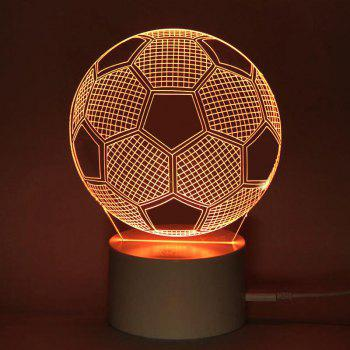 LED Remote Control Football Pattern 3D Colorful Light -  TRANSPARENT
