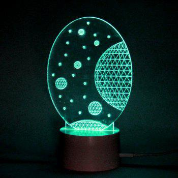 LED Universe Pattern Remote Control Color Change Lamp - TRANSPARENT