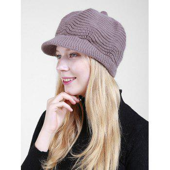 Wave Shape Knitted Newsboy Hat -  SMASHING