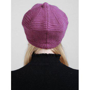 Wave Shape Knitted Newsboy Hat -  TUTTI FRUTTI