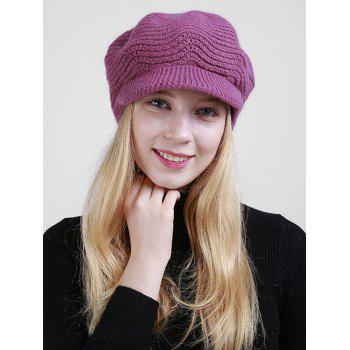 Wave Shape Knitted Newsboy Hat - TUTTI FRUTTI TUTTI FRUTTI