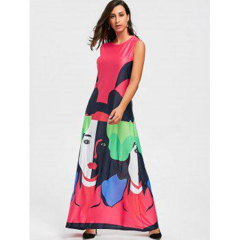 Character Print Maxi Swing Dress - S S