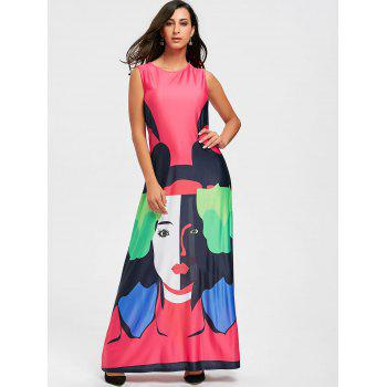 Character Print Maxi Swing Dress - XL XL