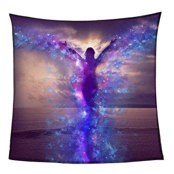 Dancing Butterfly Girl Patterned Coral Fleece Blanket - COLORFUL W59INCH*L70INCH