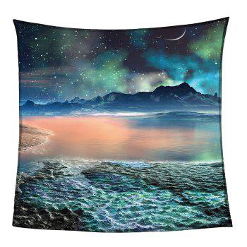 Universe Galaxy Pattern Coral Fleece Sofa Blanket - COLORMIX W59 INCH * L79 INCH