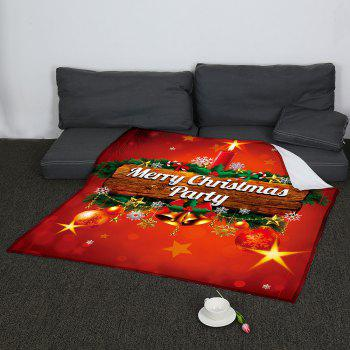 Coral Fleece Colored Christmas Candle Pattern Blanket - COLORFUL W47INCH*L59INCH