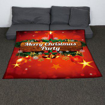 Coral Fleece Colored Christmas Candle Pattern Blanket - W47INCH*L59INCH W47INCH*L59INCH