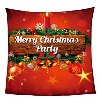 Coral Fleece Colored Christmas Candle Pattern Blanket - COLORFUL W59 INCH * L79 INCH