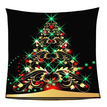 Coral Fleece Colorful Christmas Tree Pattern Blanket - W59 INCH * L79 INCH W59 INCH * L79 INCH