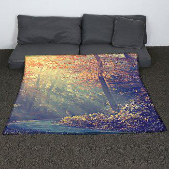 Maple Pattern Coral Fleece Sofa Blanket - COLORMIX W47INCH*L59INCH