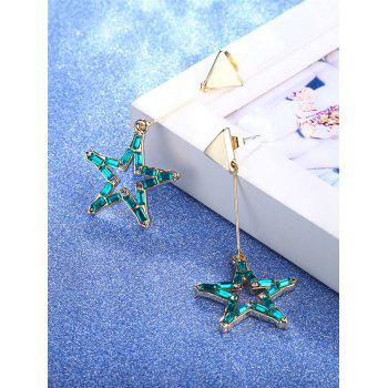 Faux Crystal Star Triangle Drop Earrings -  GOLDEN