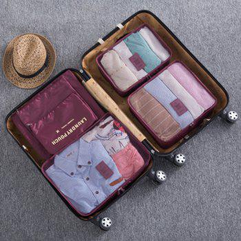 6 Pcs Travel Organizer Storage Bags -  WINE RED
