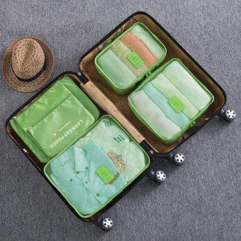 6 Pcs Travel Organizer Storage Bags - GREEN