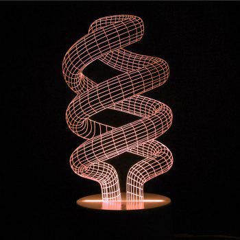 Winding Shape Multicolor Night Light With Remote Control -  TRANSPARENT