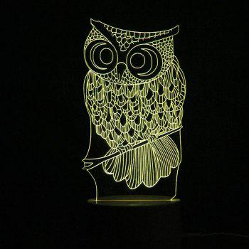 Remote Control Color Change Owl Shape LED Light -  TRANSPARENT